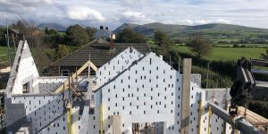 low-energy home being built with ICF