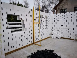icf with bracing system attached